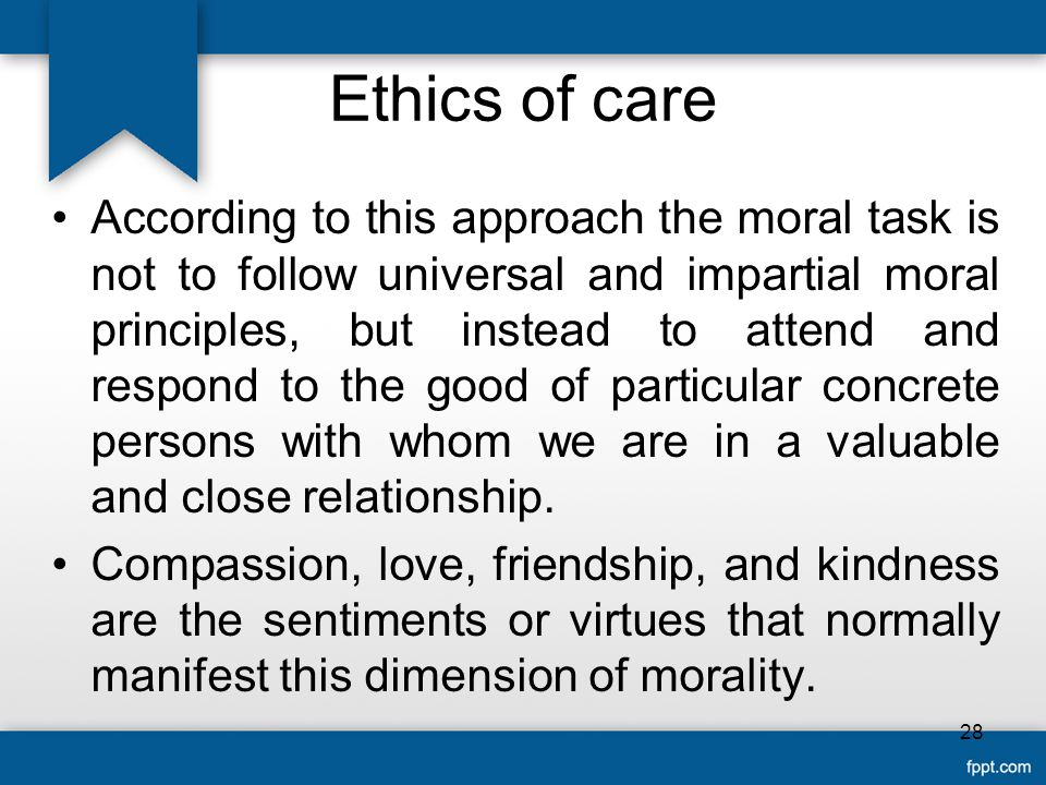 Ethics of care