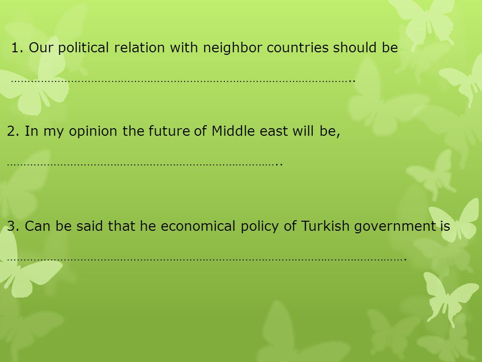 Our political relation with neighbor countries should be