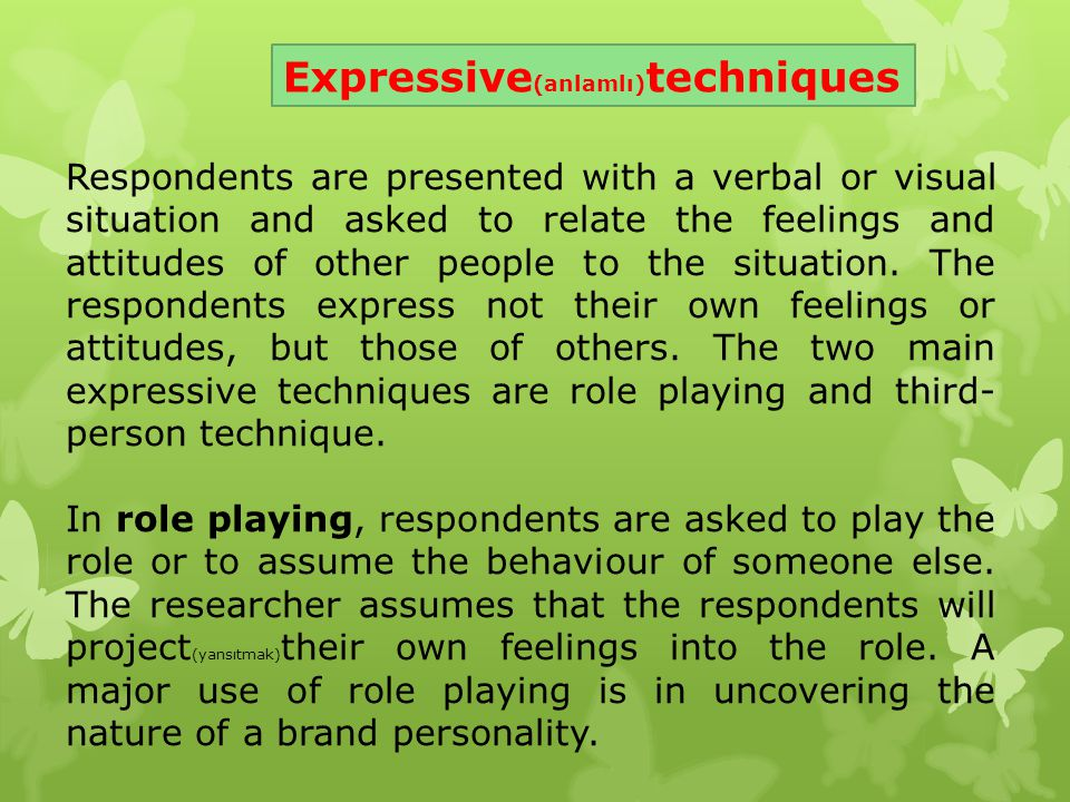 Expressive(anlamlı)techniques