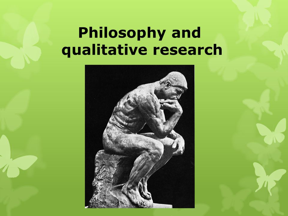 Philosophy and qualitative research