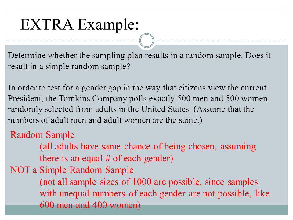 EXTRA Example: Random Sample