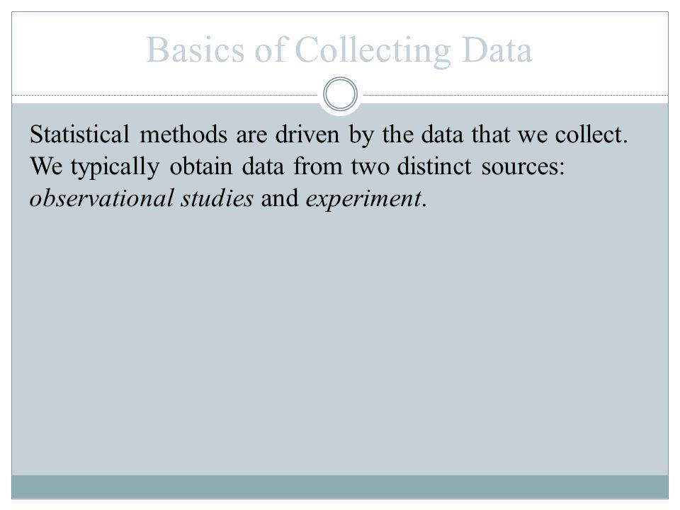 Basics of Collecting Data