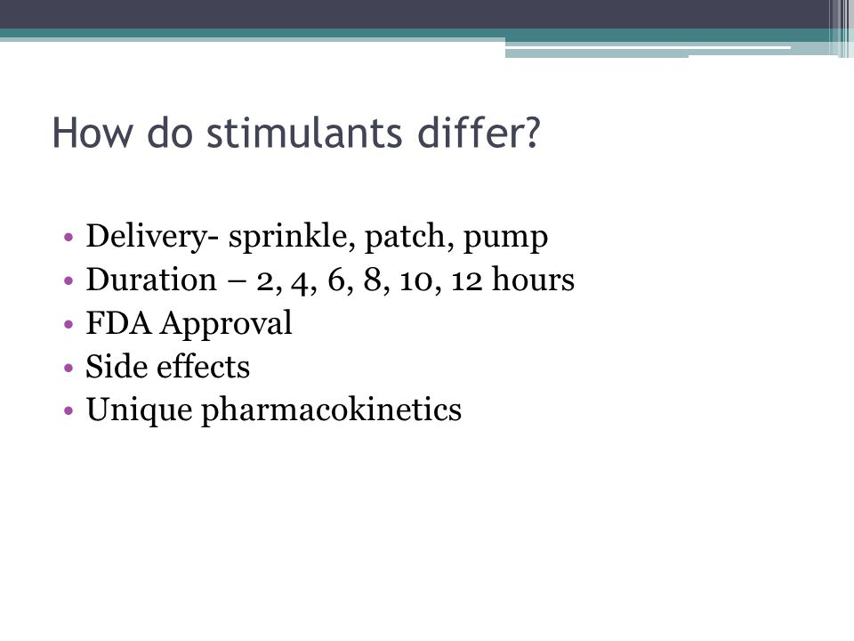 How do stimulants differ