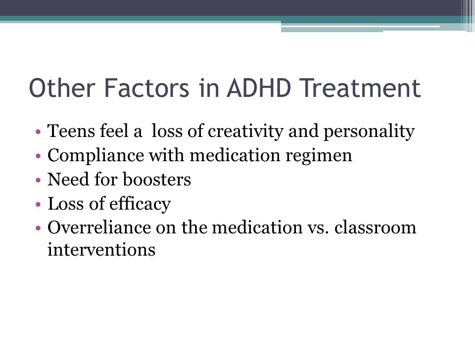 Other Factors in ADHD Treatment