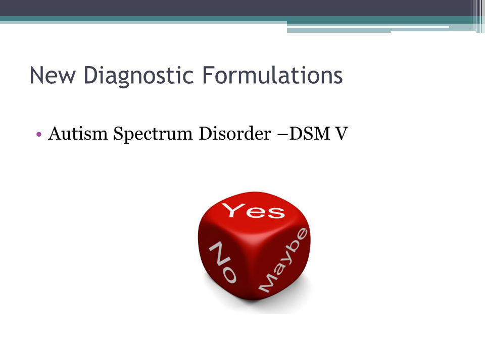 New Diagnostic Formulations