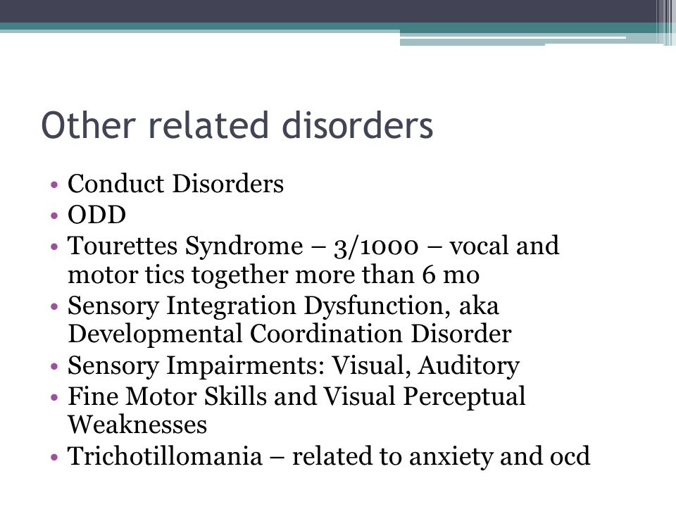 Other related disorders
