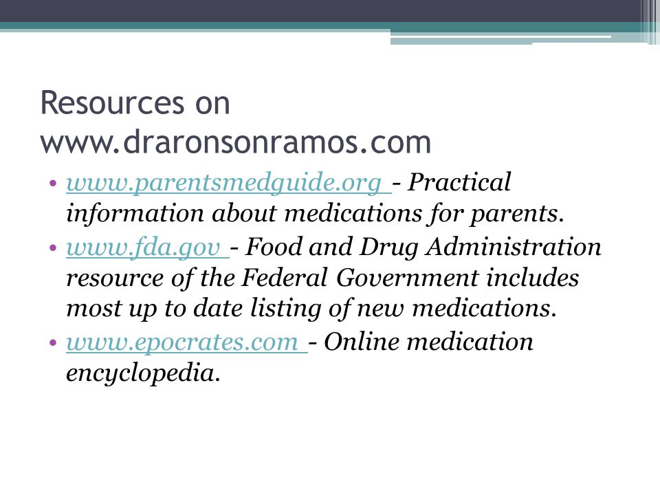 Resources on www.draronsonramos.com