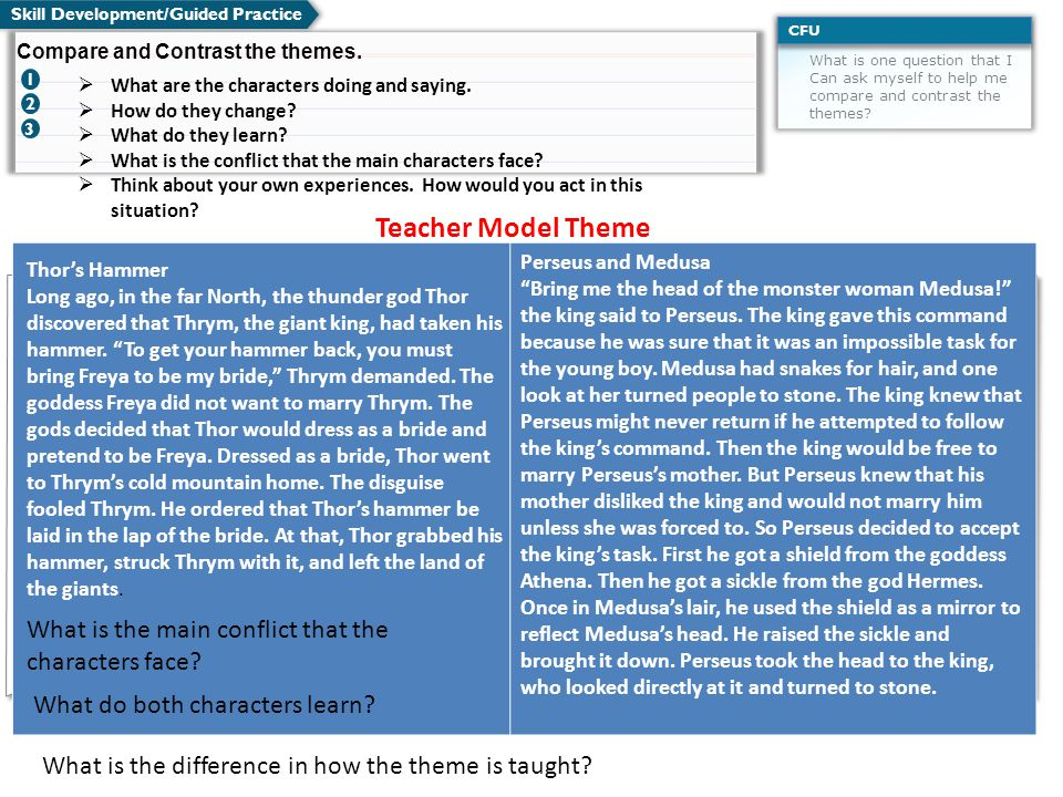 Teacher Model Theme What is the main conflict that the