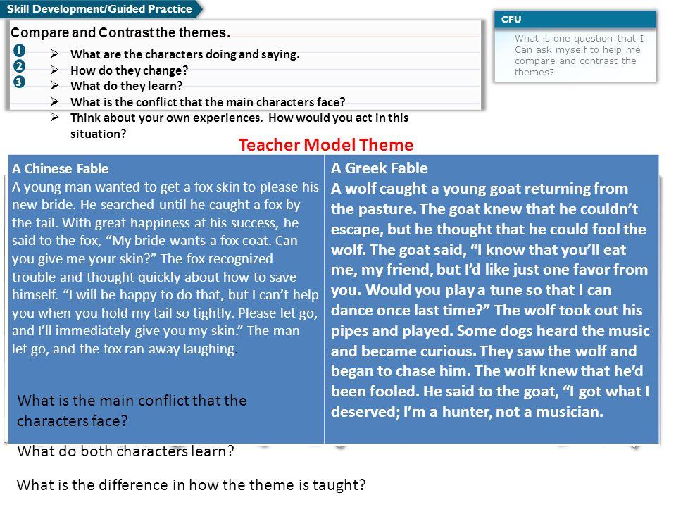 Teacher Model Theme A Greek Fable