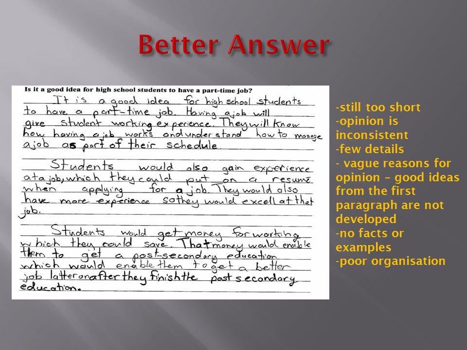 Better Answer still too short opinion is inconsistent few details