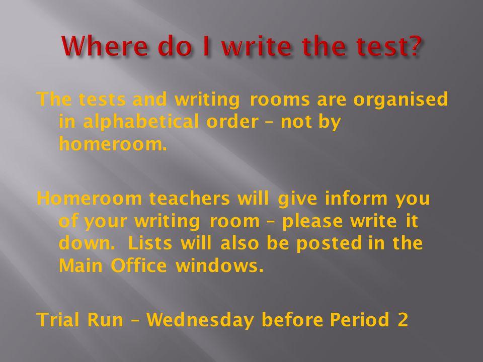 Where do I write the test