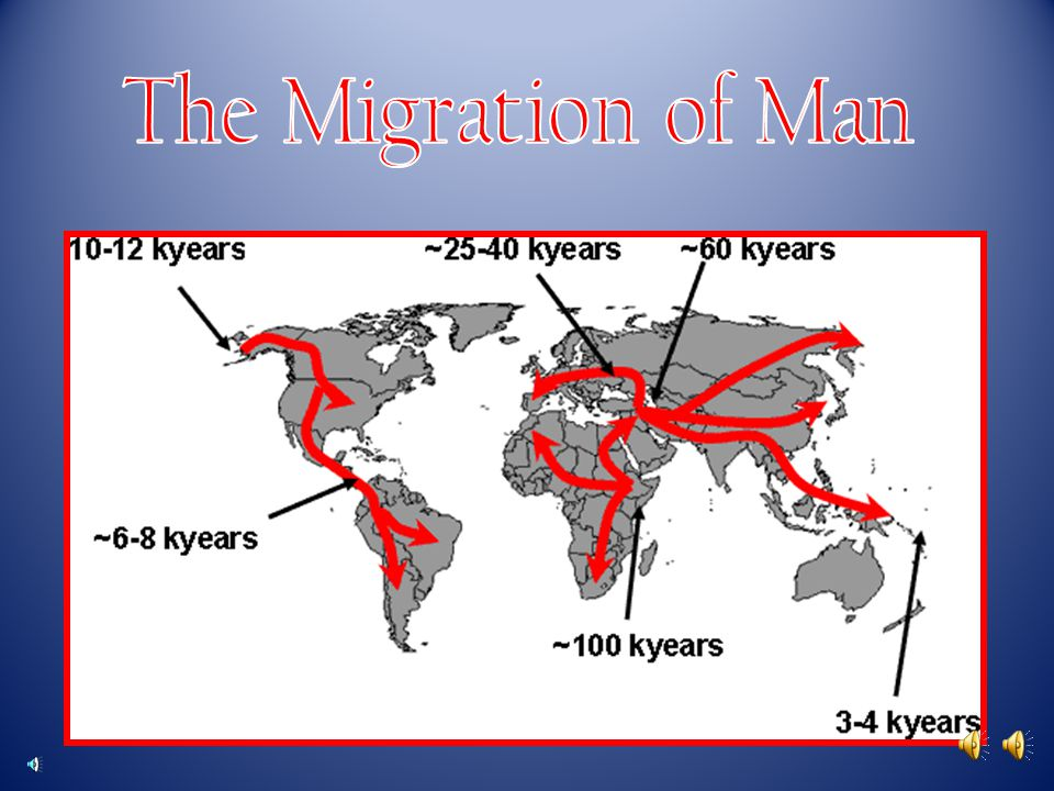 The Migration of Man