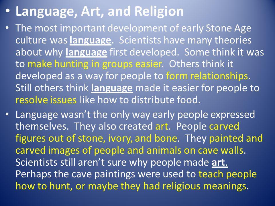 Language, Art, and Religion
