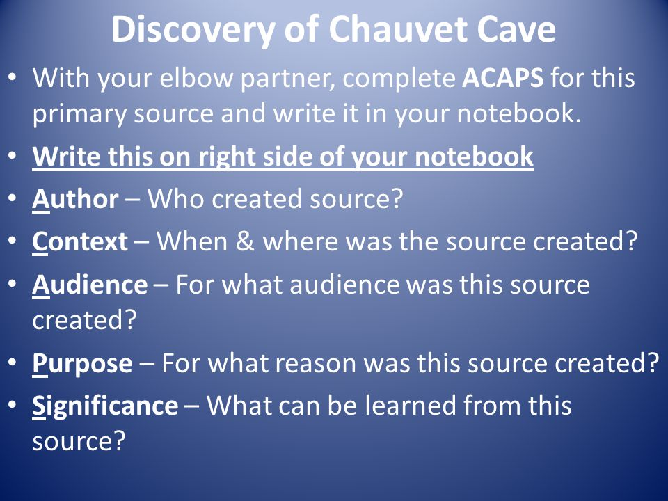 Discovery of Chauvet Cave