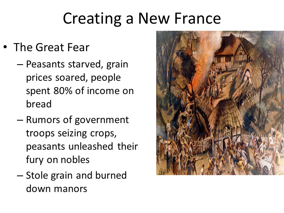 Creating a New France The Great Fear