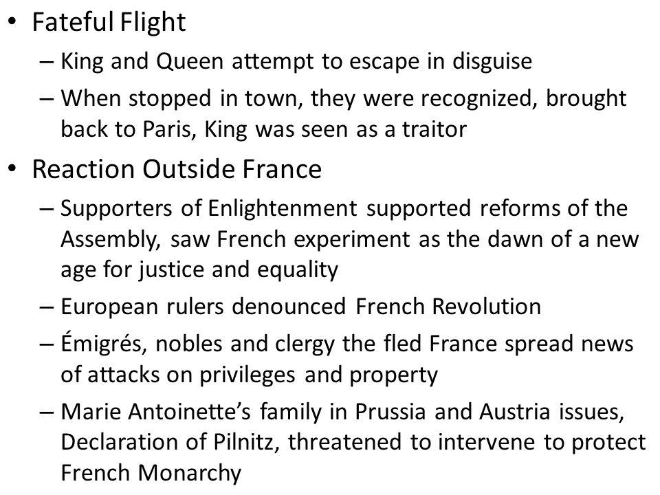 Reaction Outside France