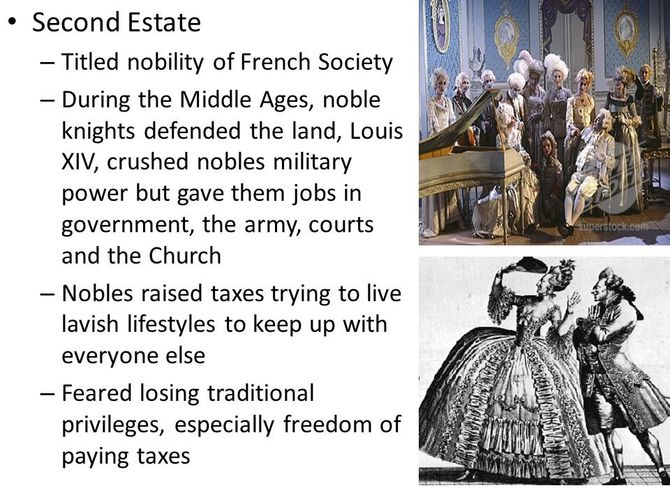 Second Estate Titled nobility of French Society