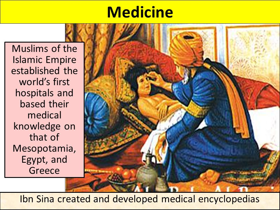 Ibn Sina created and developed medical encyclopedias