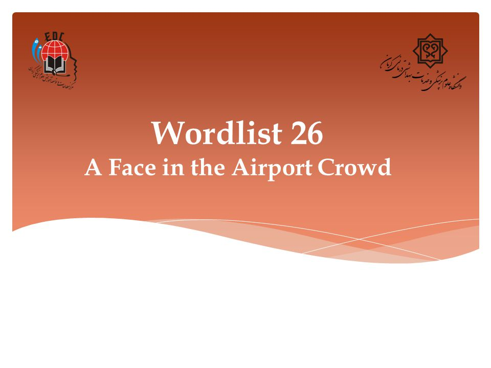 Wordlist 26 A Face in the Airport Crowd
