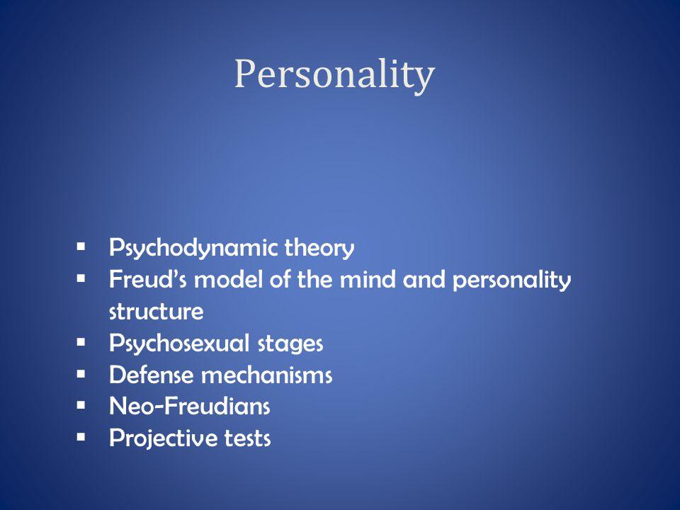 Personality Psychodynamic theory