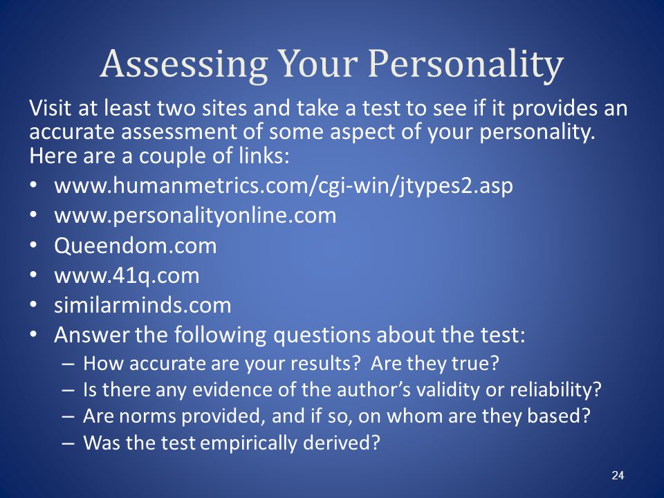 Assessing Your Personality