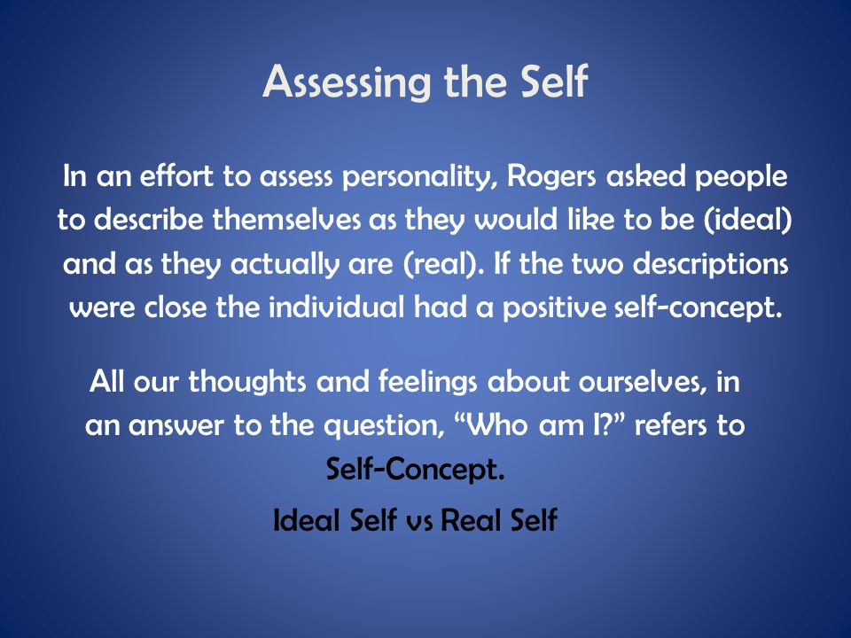 Assessing the Self
