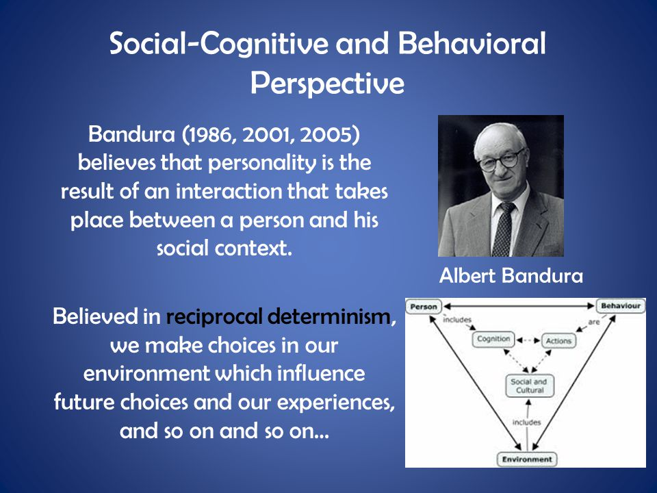 Social-Cognitive and Behavioral Perspective