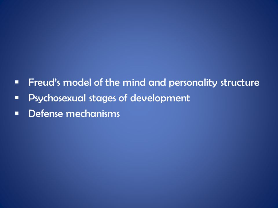 Freud's model of the mind and personality structure