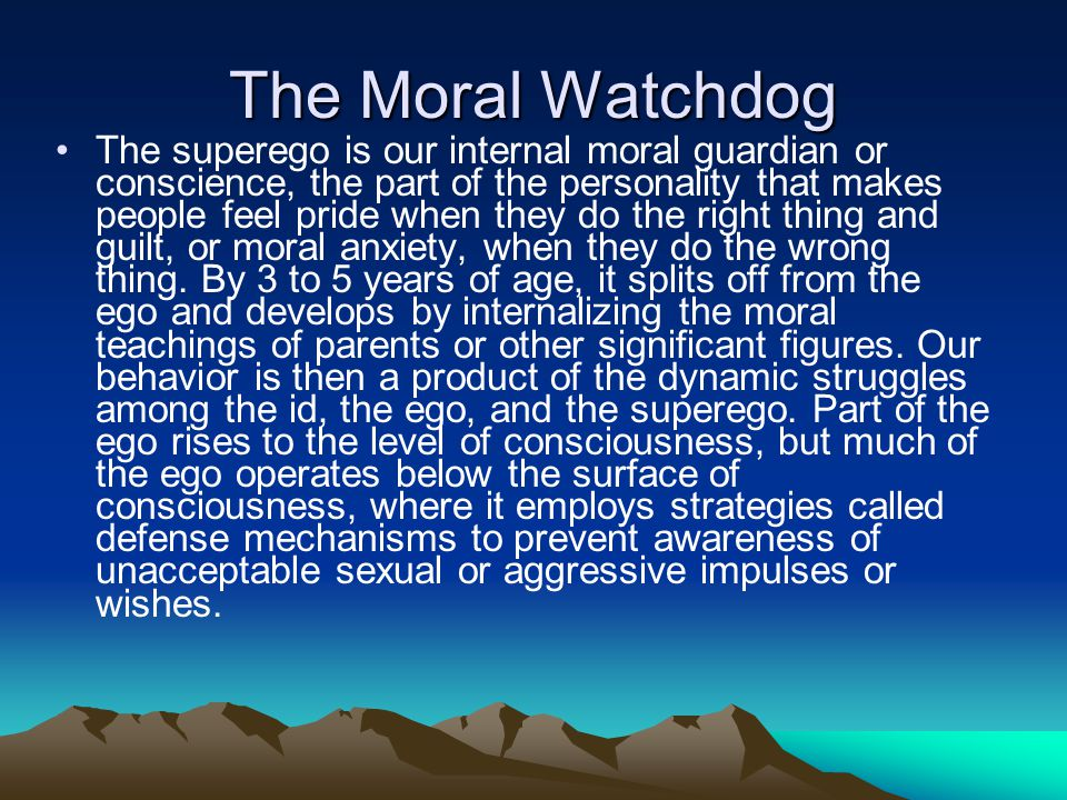 The Moral Watchdog