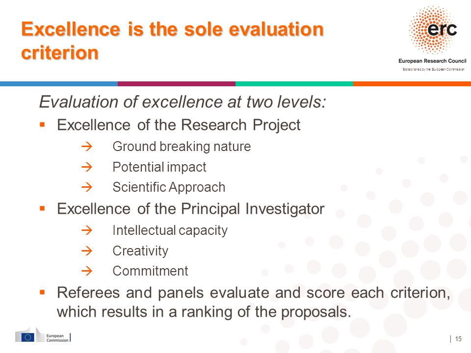 Excellence is the sole evaluation criterion