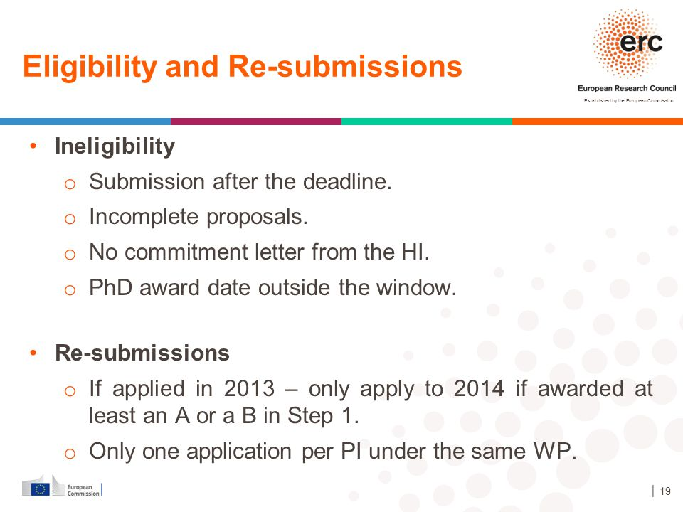 Eligibility and Re-submissions