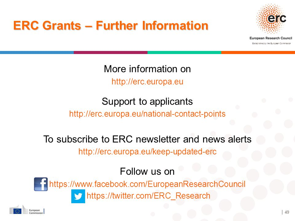 ERC Grants – Further Information