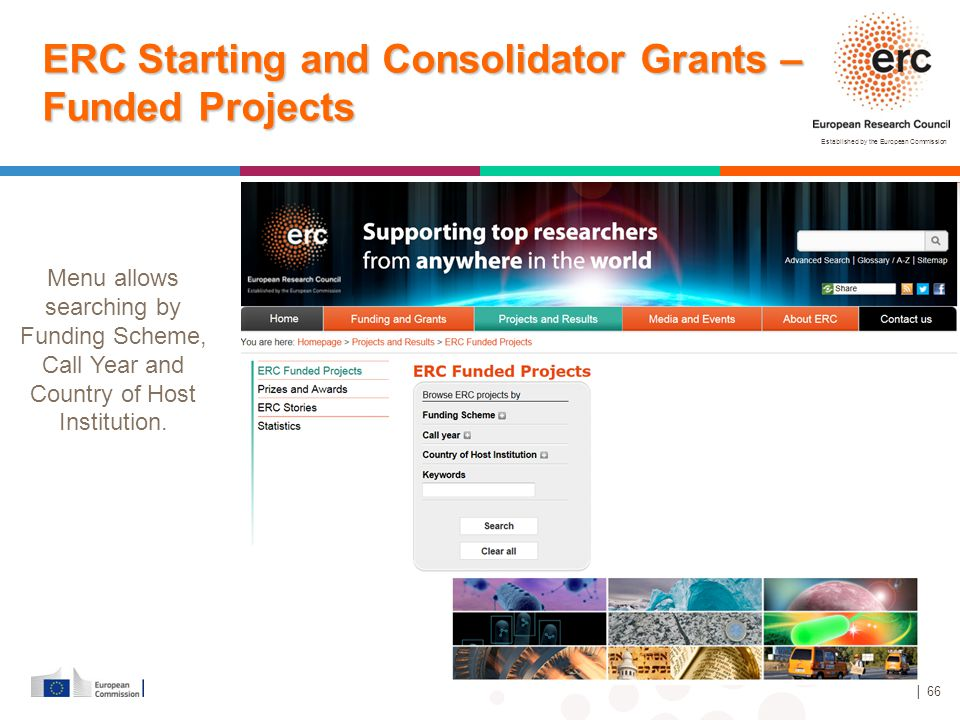 ERC Starting and Consolidator Grants – Funded Projects