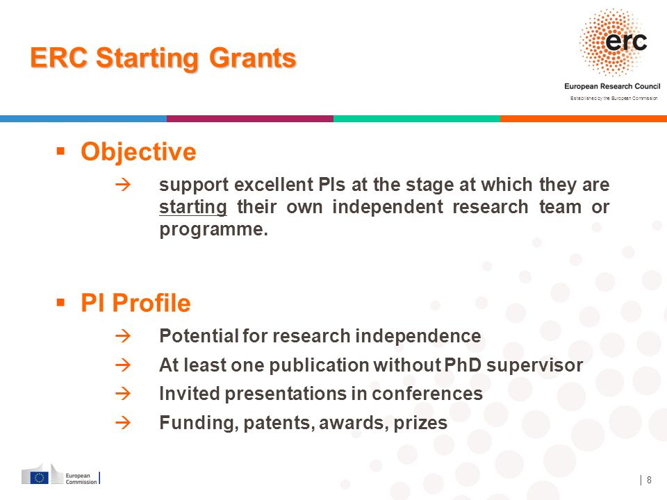 ERC Starting Grants Objective PI Profile