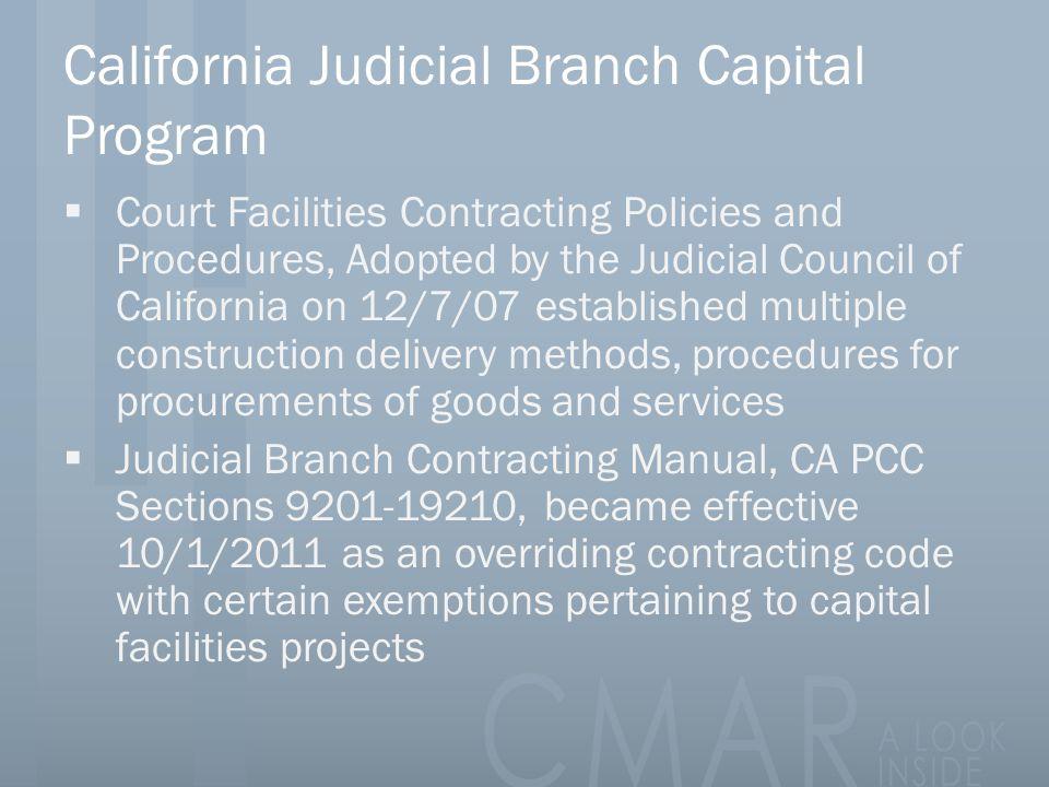 California Judicial Branch Capital Program
