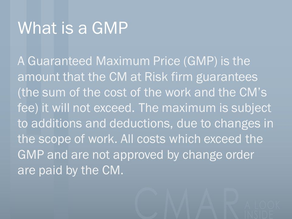 What is a GMP