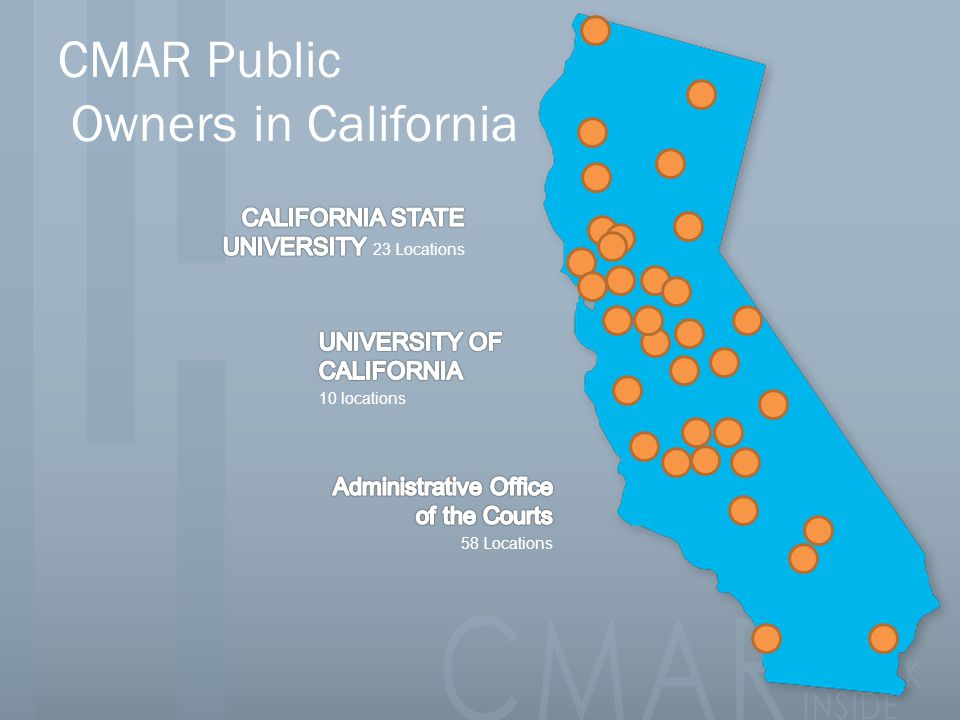 CMAR Public Owners in California
