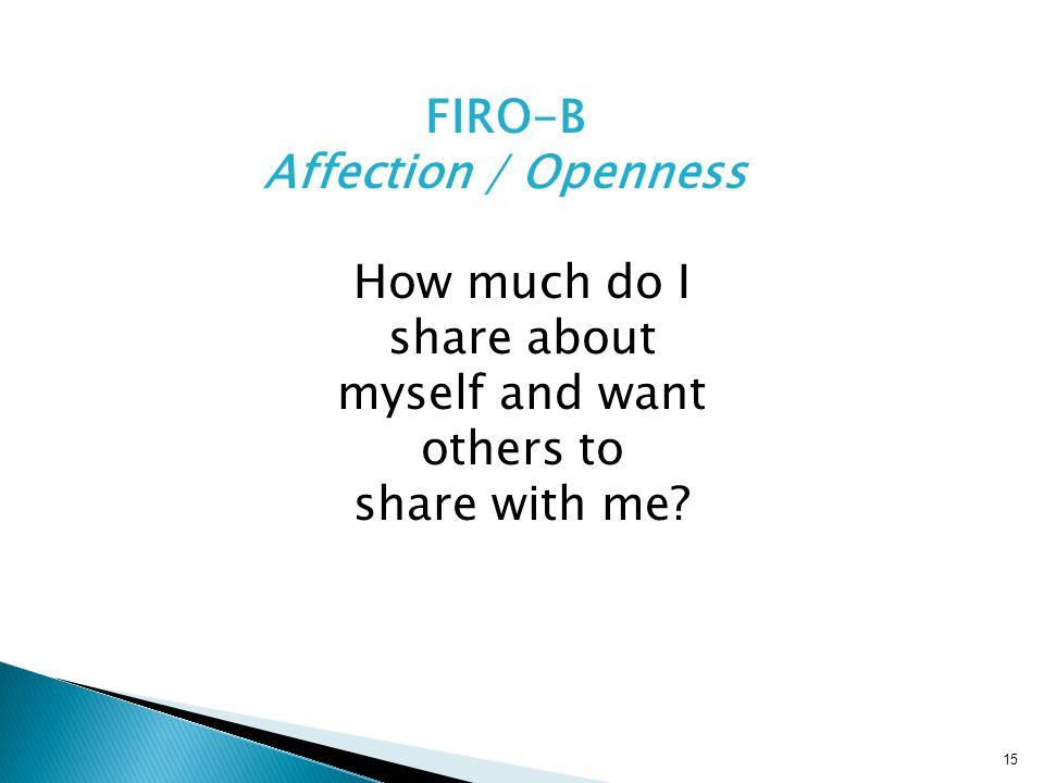 FIRO-B Affection / Openness