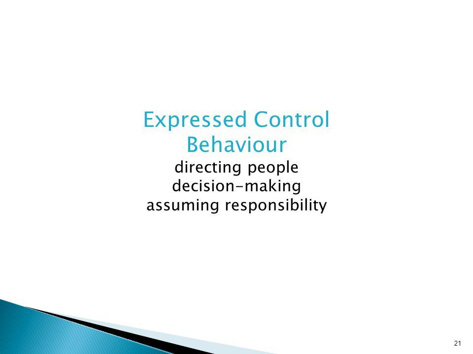 Expressed Control Behaviour