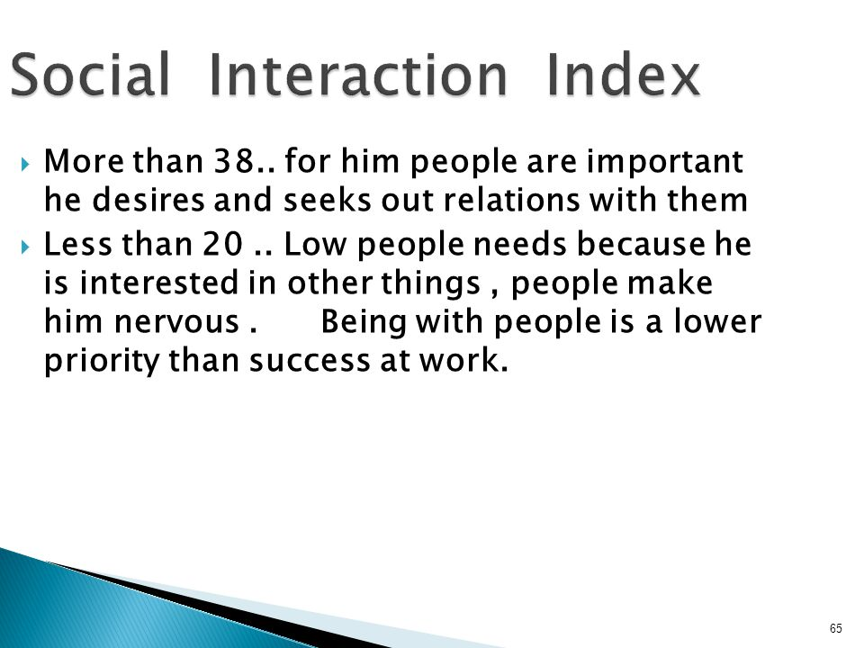 Social Interaction Index