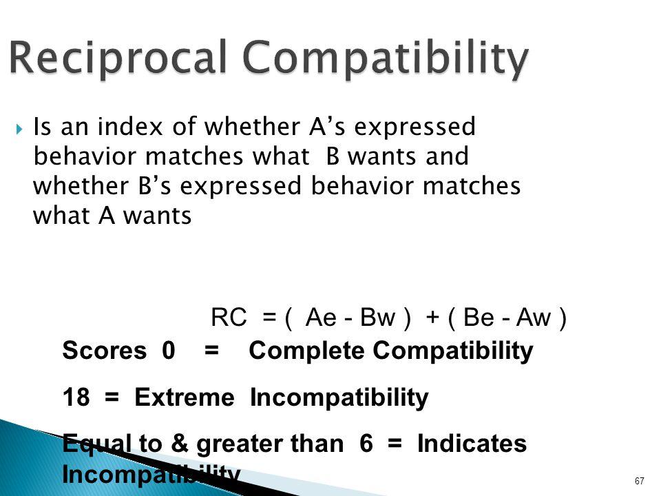 Reciprocal Compatibility