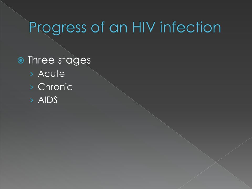 Progress of an HIV infection