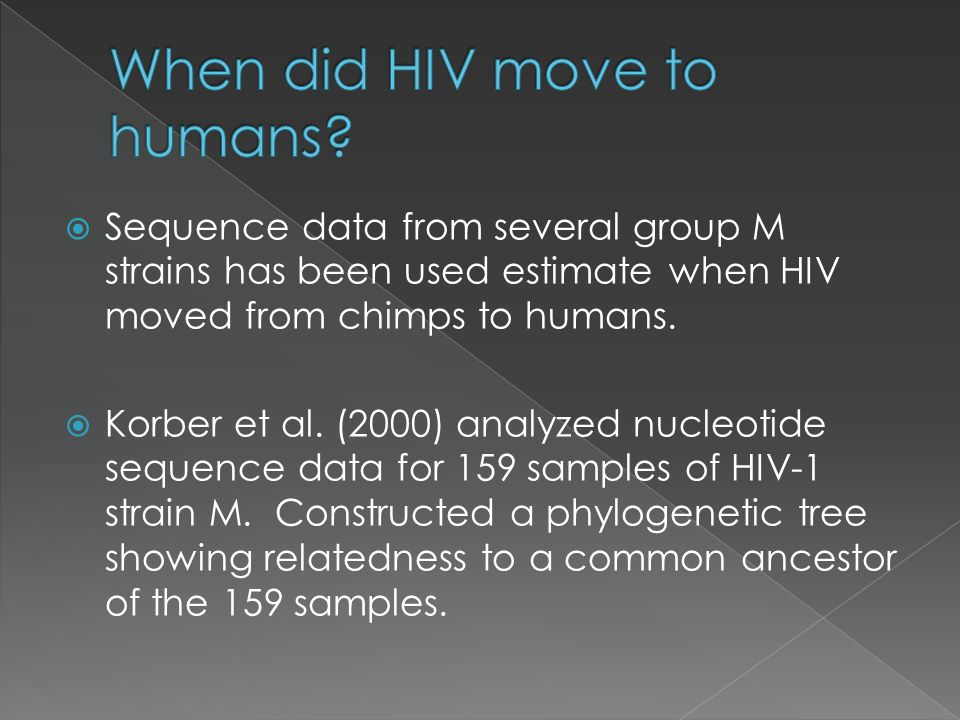 When did HIV move to humans