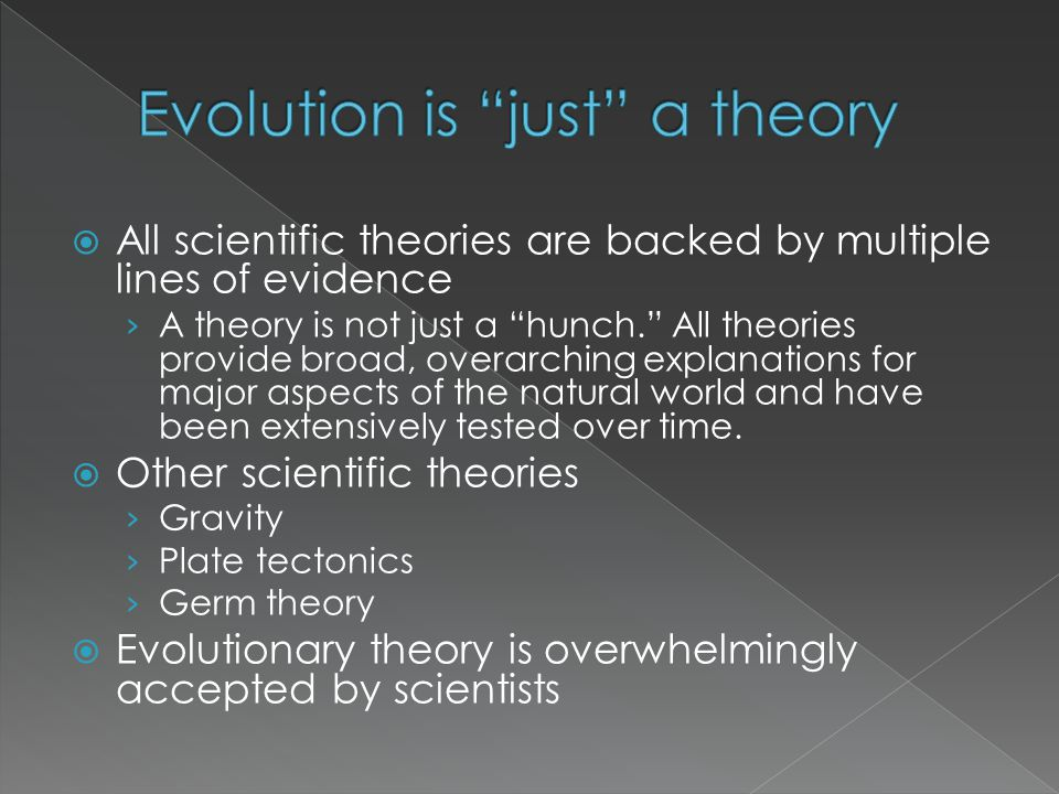 Evolution is just a theory