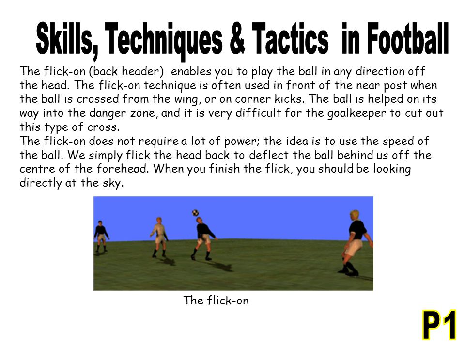Skills, Techniques & Tactics in Football