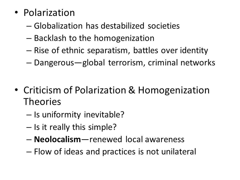 Criticism of Polarization & Homogenization Theories