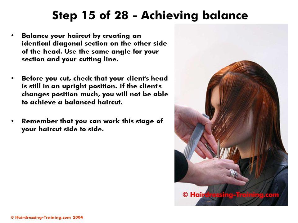 Step 15 of 28 - Achieving balance
