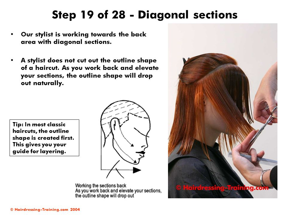 Step 19 of 28 - Diagonal sections