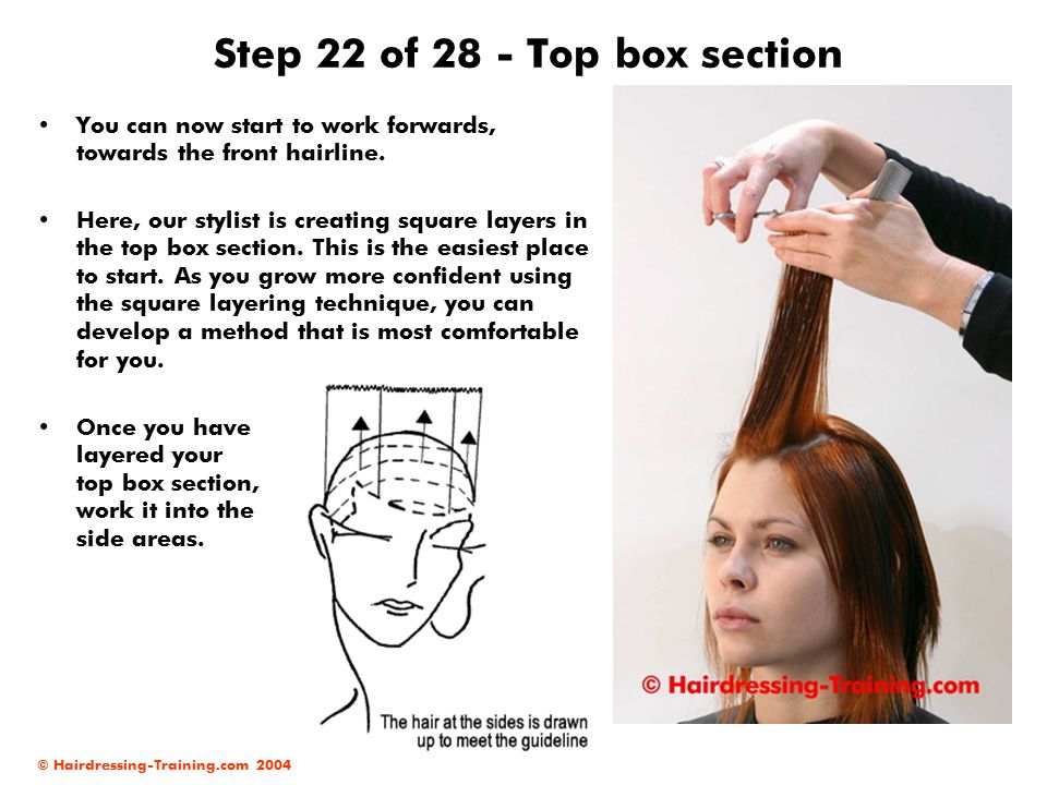 Step 22 of 28 - Top box section