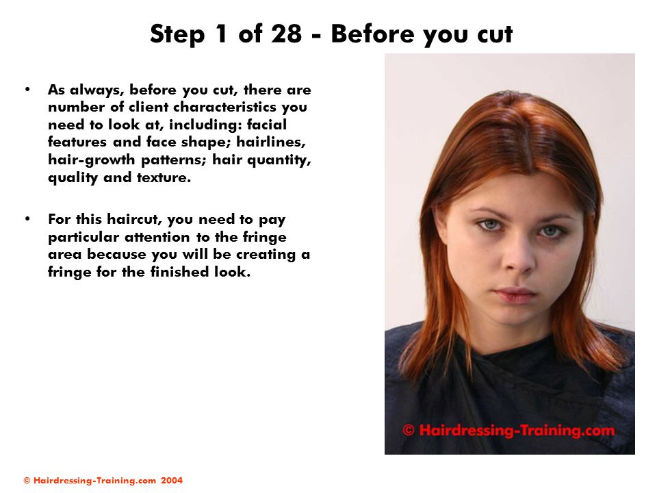 Step 1 of 28 - Before you cut